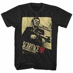 Scarface Scarface Action Black T-Shirt