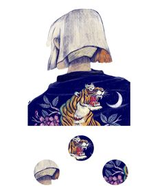 Tigers is the second extract from Sapporo Girls, a personal illustration project about girls and souvenir jackets