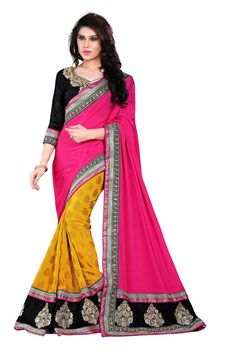 Buy Pink Viscose Party Wear Saree Online in low price at Variation. Huge collection of Party Wear Sarees for Party, Festivals, Engagements and Ceremonies. #party #partywearsarees #sarees #onlineshopping #latest #lowprice #variation. To see more - https://www.variationfashion.com/collections/party-wear-sarees
