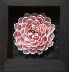 Seashell Large Pink Flower, beach decor, seashell flower, seashell crafts, wall hanging