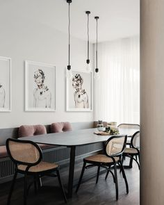 Home Interior Scandinavian .Home Interior Scandinavian Kitchen Banquette, Banquette Seating, Dining Nook, Dining Room Lighting, Dining Room Design, Dining Chairs, Table Lighting, Dining Table, Built In Dining Room Seating
