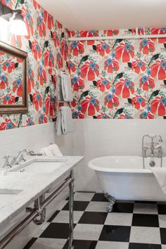Como dar um up em seu banheiro? Papel de parede