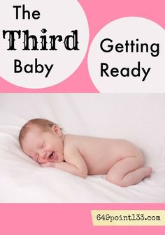 Going from two to three kids is a big adjustment! Whether it's a boy or a girl, say goodbye to that nice neat nursery (as well as a shower, for a while). Laugh through those last few days of your pregnancy and find out how to adapt once that third baby arrives.