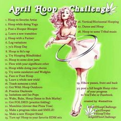 A lot of #Hooping in April . Challenge youre self.