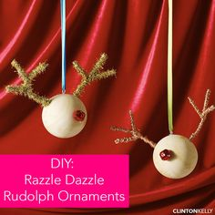 Repurpose your wrapping supplies and DIY this fabulous (and sparkly!) reindeer ornament!