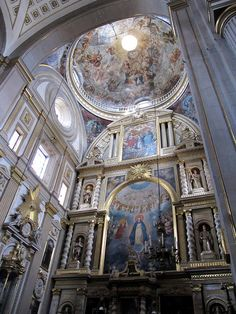 Beautiful Interior of the Cathedral in Puebla, Mexico.