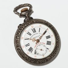 Detailed Art Nouveau conductor's pocket watch by Rosskopf, 1900 | Auctionata