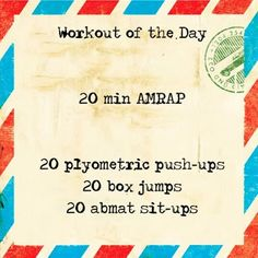 Workout of the day! CrossFit Wod. #stayactive #crossfit