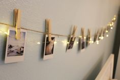Polaroid Picture Hanging Kit I love this idea for hanging pictures of the adventures had by the kids with the horses!