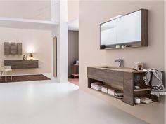 Mueble bajo lavabo suspendido de madera con cajones DRESS DR1001 Colección Dress by ARBLU