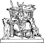 Odin was the god of gods in Norse mythology.