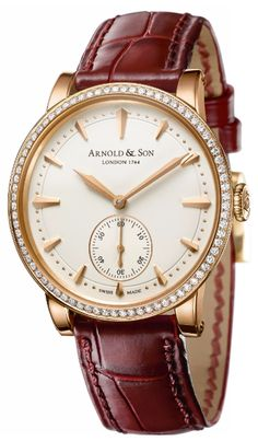Часы Arnold & Son 1PMMP.W01A.C119A Royal Collection HMS Lady - золотые - швейцарские женские наручные часы