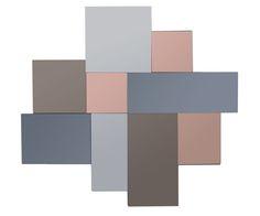 Miroir DOMINO en verre multifaces, coloris argent, cuivre et bronze - BUT