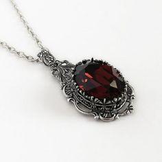 Burgundy Gothic Necklace