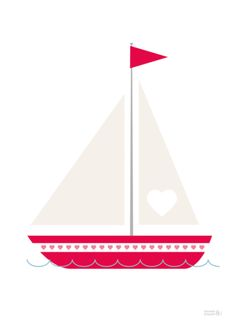 *NEW* Valentine's Love Boat Print by Showler and Showler