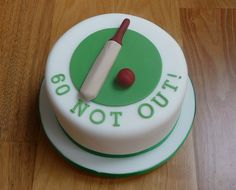 Minature Cricket Bat and Ball Cake by Susie 99, via Flickr