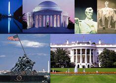 Washington, DC.  The Capital Building, White House, Licohln Memorial, Washington Memorial, Thomas Jefferson Memorial, The Smithsonian, Arlington Cemetary etc. etc.