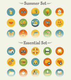 Summer & Essential #Icon Sets