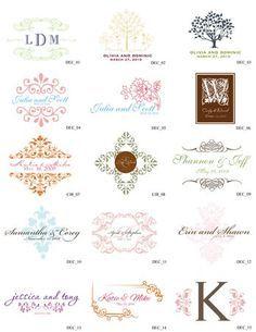 Pink, White, Green, Ceremony, Red, Wedding, Purple, Orange, Blue, Brown, Invitations, Black, Yellow, Inspiration, Board, Gold, Silver, Custom, Monogram, Ornate, Simply so stylish, Decorative, Free