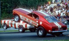 Vintage Drag Racing - Wheelstanders - The L A Dart vs The Flying Red Baron