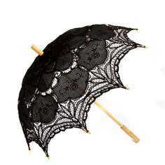 Leisureland Vintage Handmade Victorian Lace Parasol Umbrella