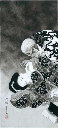 "akatako:  ""Night Mirror 2"" by Takato Yamamoto. from Coffin of a Chimera"