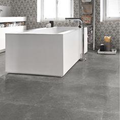 MILESTONE DARK GREY NAT. RET 60x60 Keramische tegels House Under Construction, Alcove, Bathtub, Flooring, Bathroom, Grey, Standing Bath, Washroom, Gray
