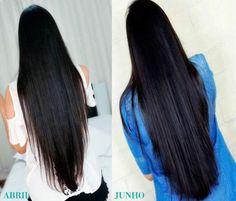 Como Engrossar Cabelos Finos ou Ralos Straight Hairstyles, Cool Hairstyles, Natural Hair Styles, Long Hair Styles, Beautiful Long Hair, Long Hair Cuts, How To Make Hair, Grow Hair, Hair Hacks
