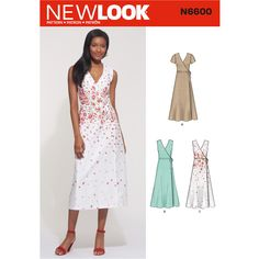 6e1803d93bc2 New Look Sewing Pattern N6600 Misses  Wrap Dress Clothing Patterns