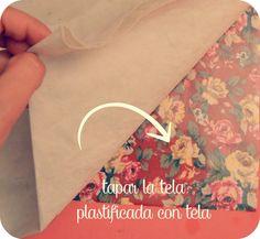 los tutoriales de artbril: Cómo plastificar tela con forro para libros