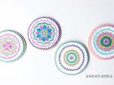Learn how to use a Spirograph to decorate cookies with royal icing and edible markers!