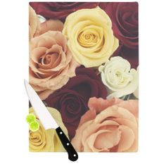 11.5 x 15.75 Multicolor KESS InHouse Robin DickinsonIts That Time Floral Photography Cutting Board