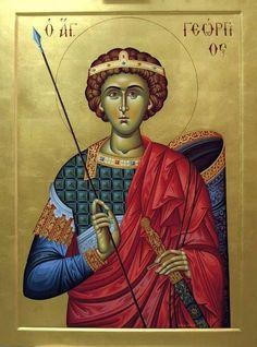 Byzantine Icons, Byzantine Art, Patron Saint Of England, Saint George And The Dragon, Patron Saints, Orthodox Icons, Kirchen, Christianity, Illustration