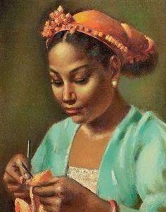 Knitter, Mahmoud Said, 1947