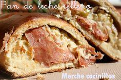Merche cocinillas y ahora también mamá: Pan de leche relleno de jamón,pavo,queso y aceitun...