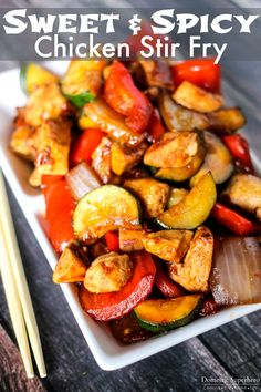 Sweet and Spicy Chicken Stir Fry