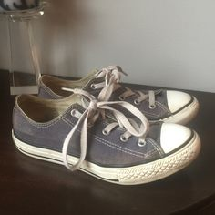 Converse Chuck Taylor's Youth size 3. Used condition. But, I think Chucks look better used than brand new! These are navy. Rubber sole is smooth in places and a small mark on outside rubber sole of left shoe (shown in pic). Converse Shoes Athletic Shoes