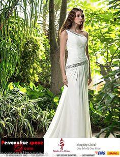 Sheath/Column One-Shoulder Sweep Train Chiffon Wedding Dress | 1000x1000.jpg