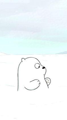 Ice Bear We Bare Bears, We Bear, Blue Aesthetic Pastel, We Bare Bears Wallpapers, Instagram Frame, Bear Wallpaper, Bear Birthday, Bear Cartoon, Lock Screen Wallpaper