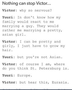 Yuri on Ice meme C'mon Yuri, things like that ain't gonna stop Viktor