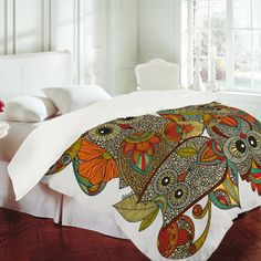 "Owls Duvet Cover - I don't normally go for the ""what's popular now"" stuff, but I lervvvv owls and this is perfect."