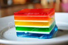 I've been trying to find the recipe for the cool rainbow jello my Mom made for us when we were kids.  She brought it to EVERY kid function we had and we were always the ones with the coolest dish of all.  :)
