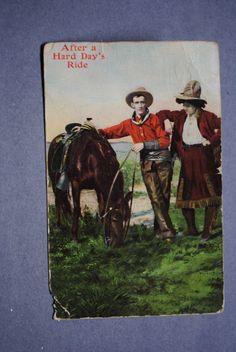 Postcard Cowboy Cowgirl