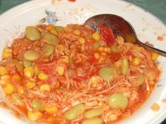 I have fond memories of summer parties out in rural Virginia where they made the most amazing Brunswick stew. It was cooked outside on a fire in a big kettle and we'd wait all day for it to be done. This recipe tastes just like it and you can make it in the kitchen instead of outside!