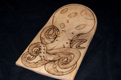 Octopus Pyrography on Behance