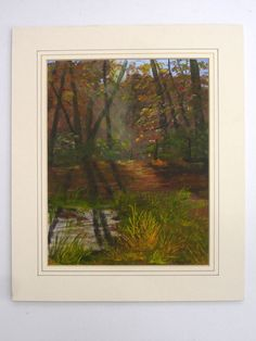 1970s Signed D Dashwood Vintage Oil Painting Autumn by FillyGumbo