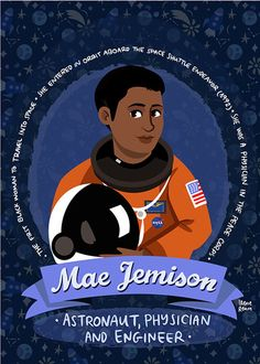 Mae Jemison austronaut and engineer science poster | Etsy Katherine Johnson, Engineering Science, Peace Corps, Space Shuttle, Women In History, Friend Birthday, Change The World, Strong Women, Prints