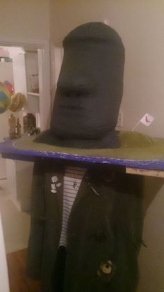 Giant Easter Island head costume #halloween