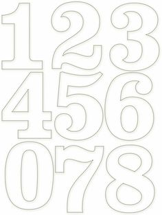 Tethered 2 Home Number Templates, Alphabet Templates, Number Stencils, Free Stencils, Free Printable Numbers, Graffiti Lettering, Alphabet And Numbers, Applique Patterns, Coloring Pages