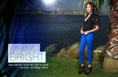 Kimora Lee Simmons in Miami Bright Jeans ad for JustFab.com.